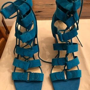 Marc Fisher Suede lace up sandals